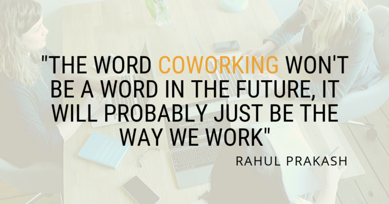 The word Coworking!